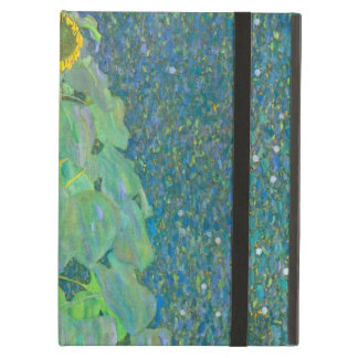 Sunflower by Klimt, Vintage Flowers Art Nouveau iPad Air Cases