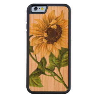 Sunflower Carved Cherry iPhone 6 Bumper Case