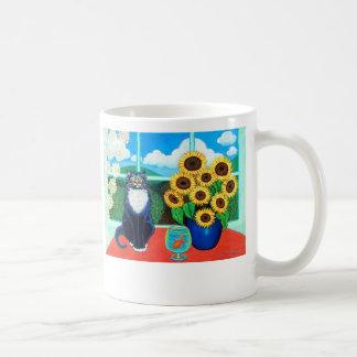 Sunflower Cat Mug