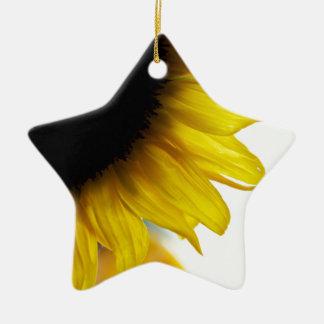 Sunflower Ceramic Star Ornament