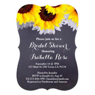 Sunflower chalkboard bridal shower sunflwr2 card