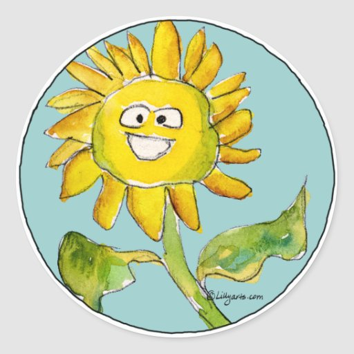 Sunflower Clipart Sticker | Zazzle