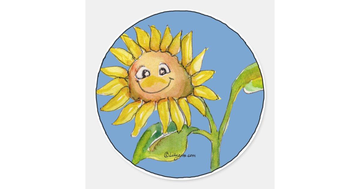 Sunflower Clipart Sticker 10 | Zazzle.ca