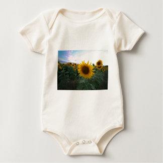 Sunflower Closeup Baby Bodysuit