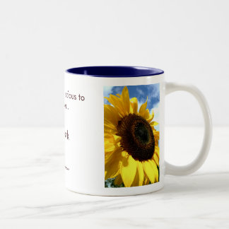 sunflower closeup by tdgallery mug
