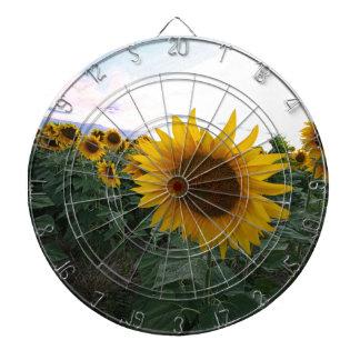 Sunflower Closeup Dartboard
