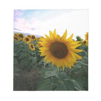 Sunflower Closeup Notepad