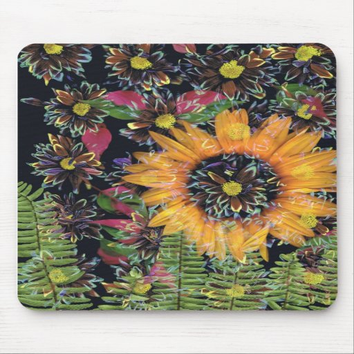 Sunflower collage mousepads