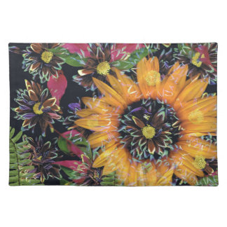 Sunflower collage placemats