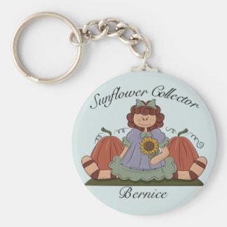 Sunflower Collector Series Basic Round Button Keychain