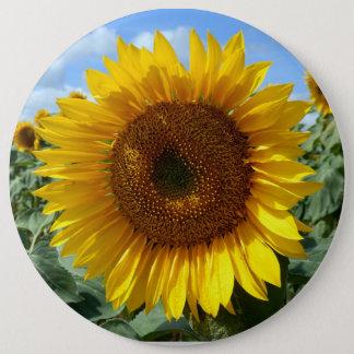 Sunflower Colossal Round Badge 6 Inch Round Button