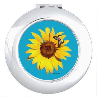 """Sunflower"" Compact Mirror"