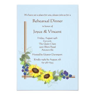 Sunflower Corner Invitation