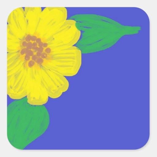 Sunflower Corner Square Stickers