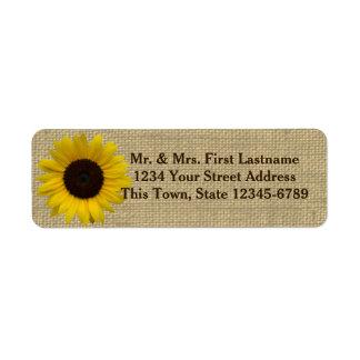 Sunflower Country Burlap