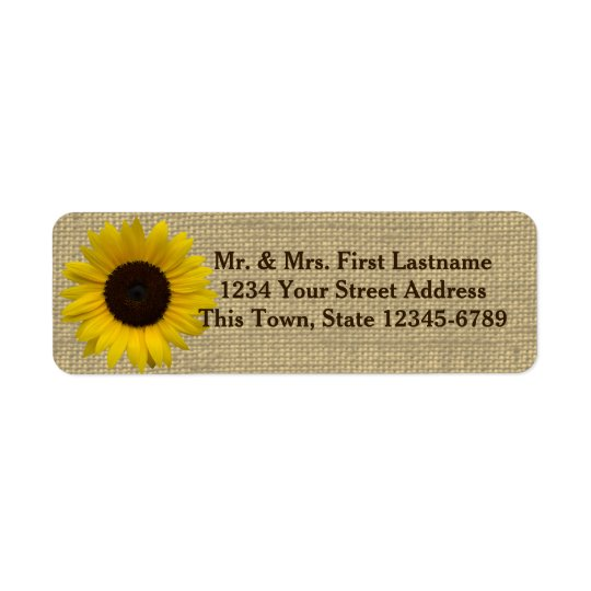 Sunflower Country Burlap
