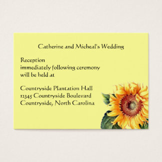 Sunflower Country Wedding Reception Venue Insert