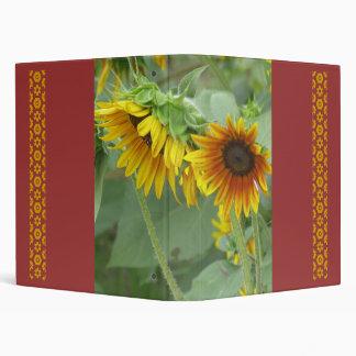 Sunflower Crop Vinyl Binder