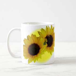 Sunflower Cups Mugs Sunny Yellow Sunflower Cups