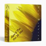 Sunflower Custom Wedding Album Vinyl Binders