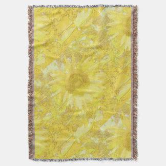 Sunflower Dazzle Throw Blanket