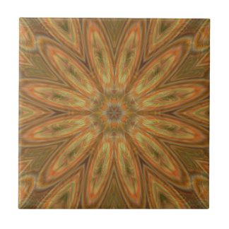 "Sunflower Digital Art Ceramic Tile 4.25"" size"