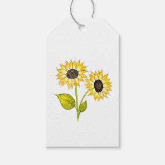'Sunflower Duet' Gift Tags