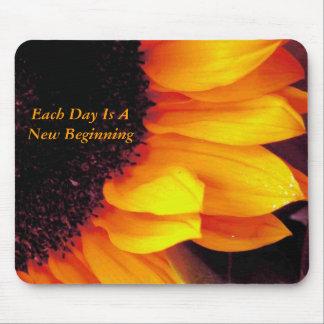 Sunflower Each Day Is A New Beginning Mousepad