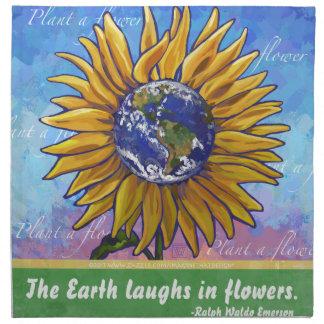 Sunflower Earth Art Cloth Napkins