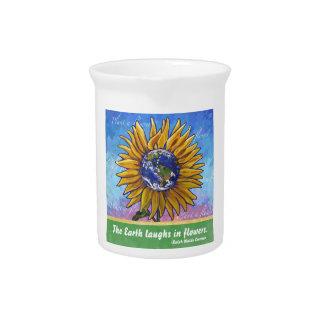 Sunflower Earth Art Pitcher