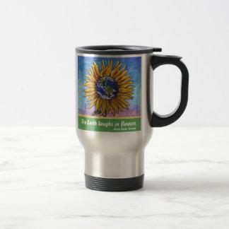Sunflower Earth Art Travel Mug