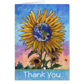 Sunflower Earth Thank You Card