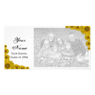 Sunflower Edge Graduation Announcement Photo Card