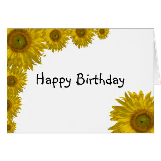 Sunflower Edge Happy Birthday Card