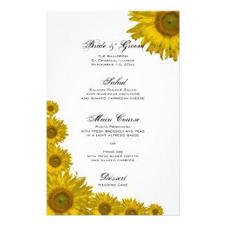 Sunflower Edge Wedding Menu