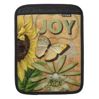 Sunflower & Eiffel Tower Sleeve For iPads