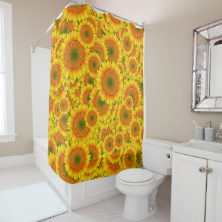 Sunflower Explosion Shower Curtain