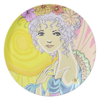 Sunflower Fairy Dinner Plates