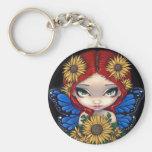 """Sunflower Fairy"" Keychain"