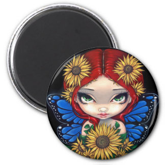"""Sunflower Fairy"" Magnet"