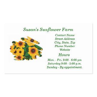 Sunflower Farm business cards - template