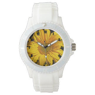 Sunflower Fat Black Numbers Womens Watch