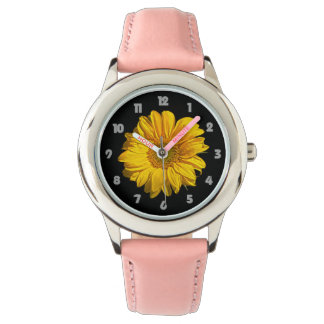 Sunflower Fat Grey Numbers Kids Watch