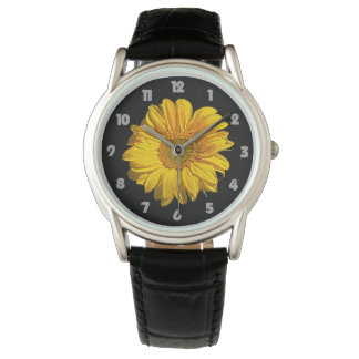 Sunflower Fat Grey Numbers Mens Watch