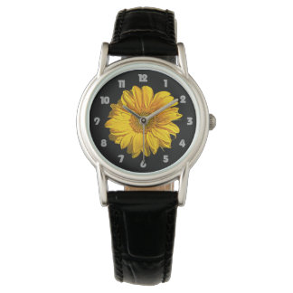 Sunflower Fat Grey Numbers Womens Watch