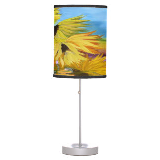 Sunflower field accent table lamp