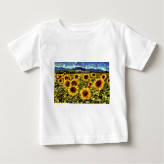 Sunflower Field Van Gogh Baby T-Shirt