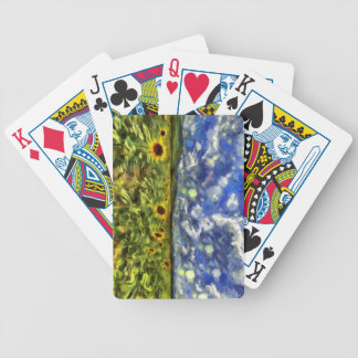 Sunflower Field Van Gogh Bicycle Playing Cards