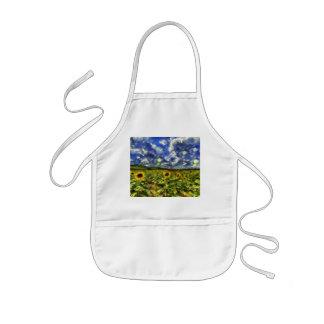 Sunflower Field Van Gogh Kids Apron