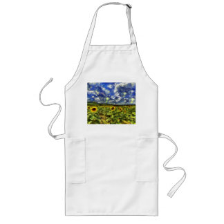 Sunflower Field Van Gogh Long Apron